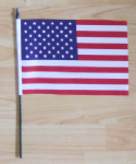 USA Country Hand Flag - Medium.